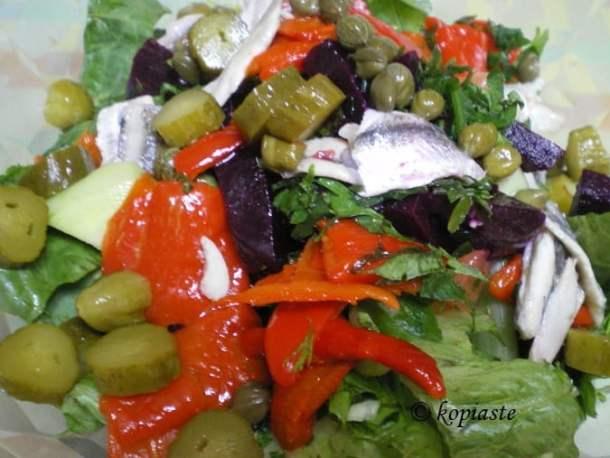 Making Greek Salad