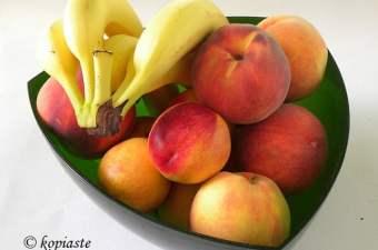 Fruit bananas peaches nectarines plums
