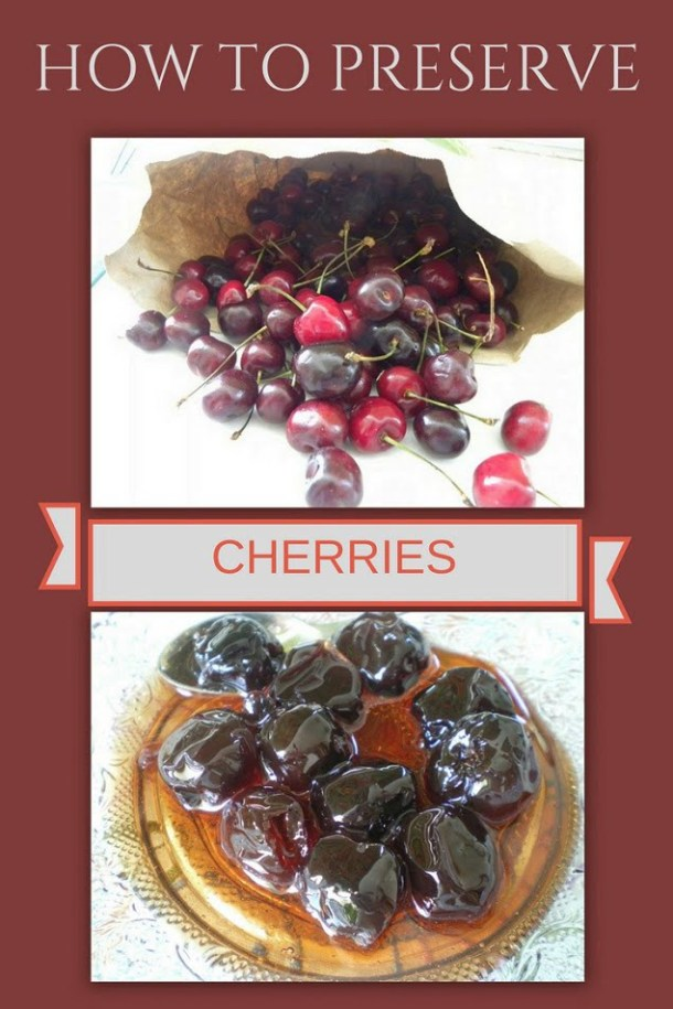collage how to preserve cherries image