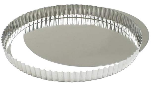 Tart pan with removable bottom image