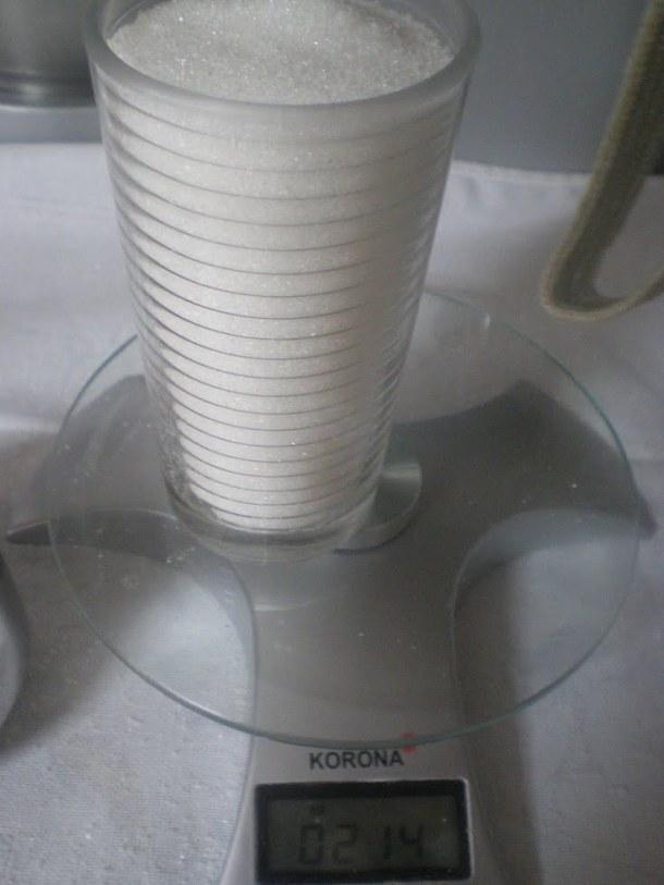A glass of sugar image