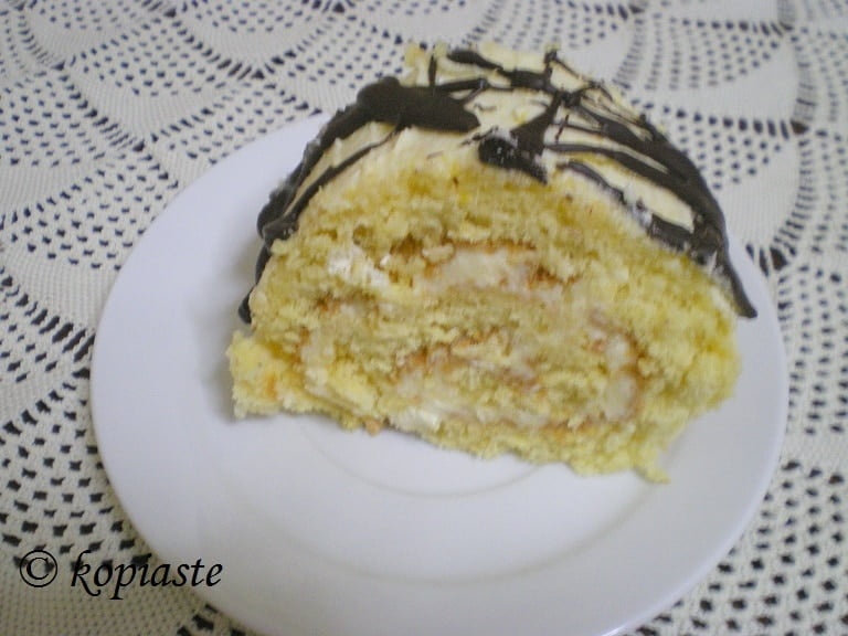Lemon Roulade with chocolate