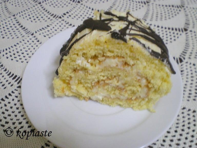 Lemon Roulade with chocolate