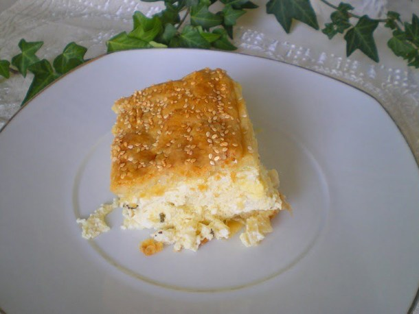 Tyropita with Puff Pastry