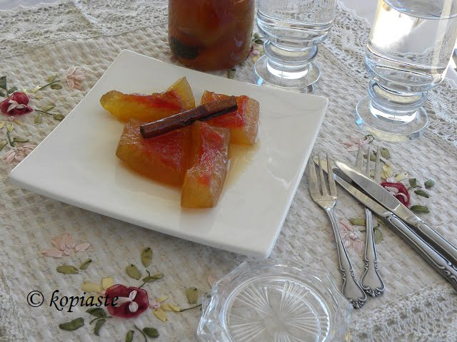 Aromatiko Glyko Karpouzi (Aromatic mini Watermelon Rinds Fruit Preserve) revisited