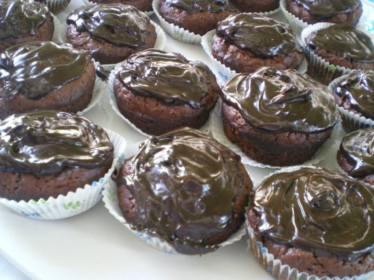 Vegan Chocolate Pomegranate Cupcakes