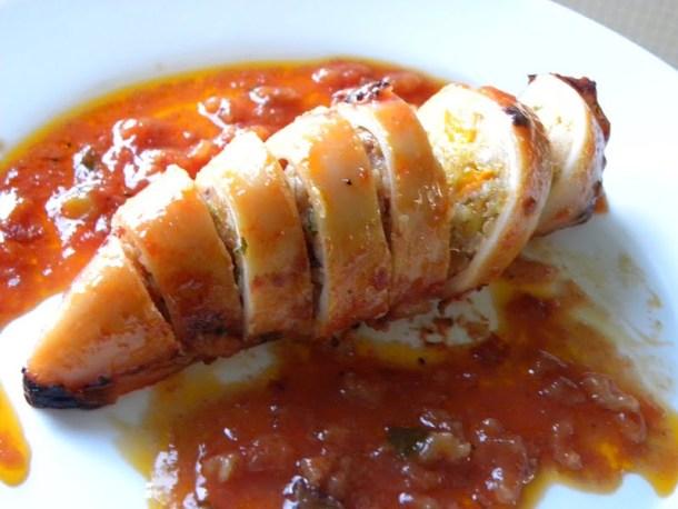 stuffed kalamari squid image