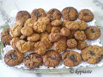 Honey, Peanut butter, Chocolate and Pastelli Cookies
