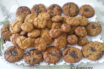 honey peanut butter chocolate and pastelli cookies image