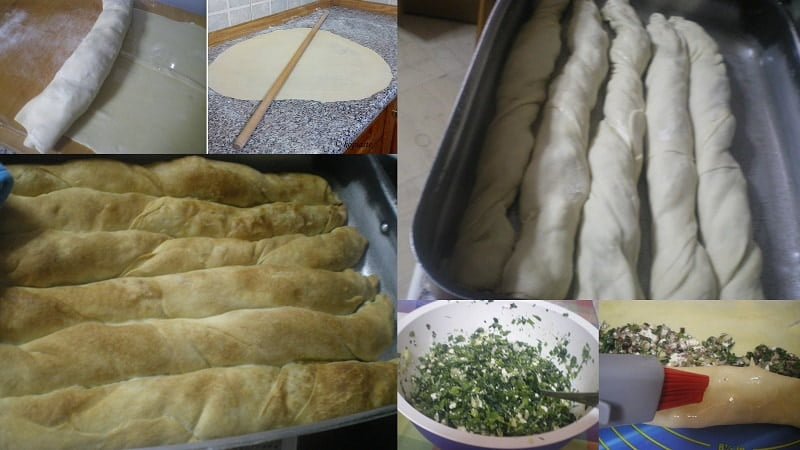 collage making Spanakopita strifti