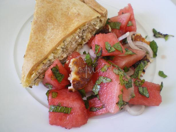 tyropita-with-watermelon-salad