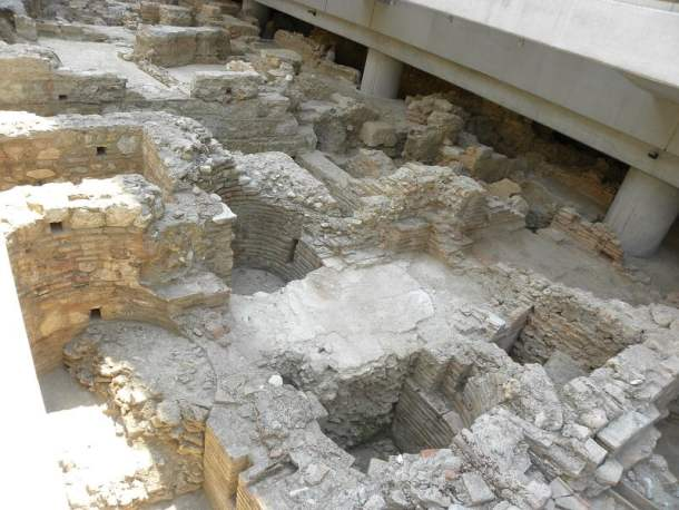 Archaeological site below the museum image