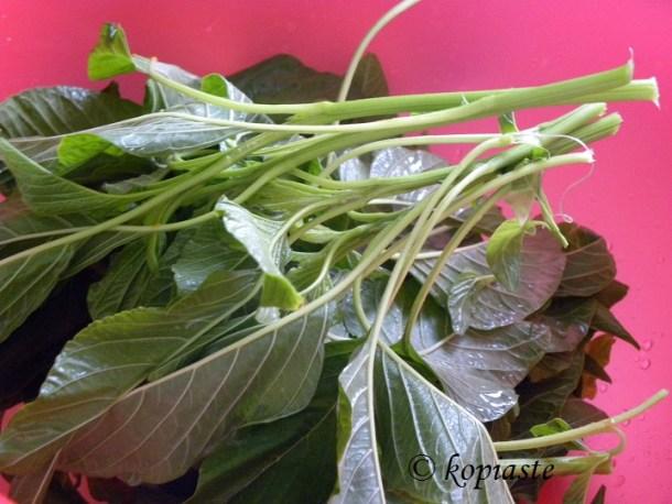 Vlita amaranth greens washed