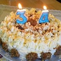 White Chocolate Genoise Sponge Cake with Caramelized Bananas