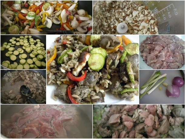 collage chicken livers image