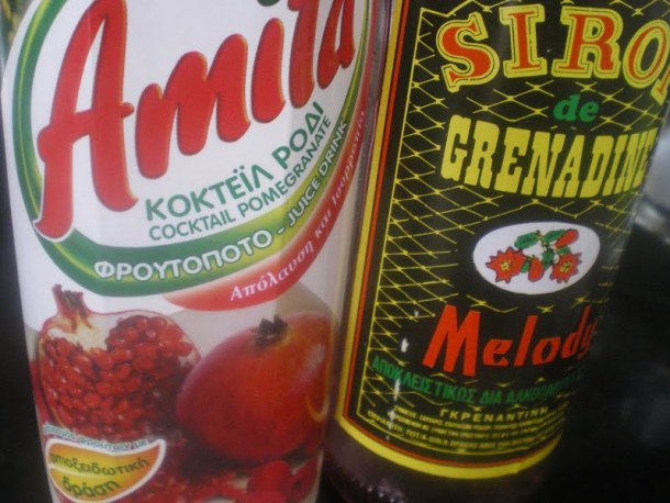 Pomegranate juice andd grenadine image