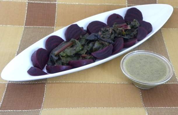 pantzaria beets with caper vinaigrette