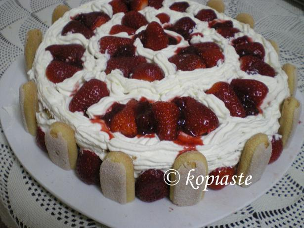 Torta Fragole or Strawberry Cake