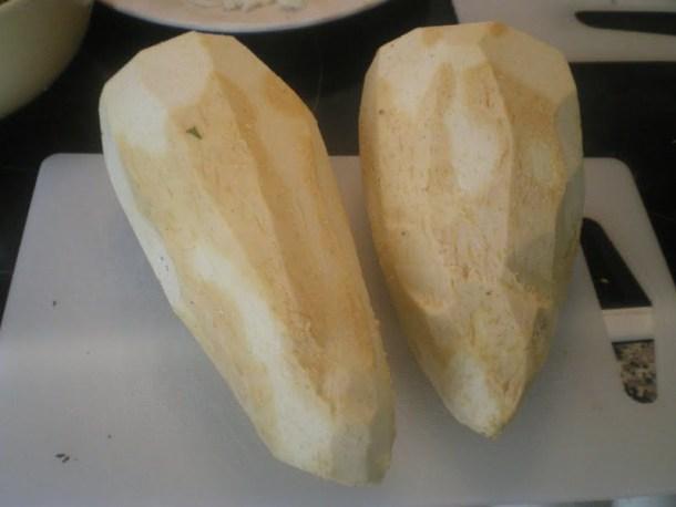 Peeled taro image