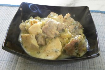 Pork with taro avgolemono image