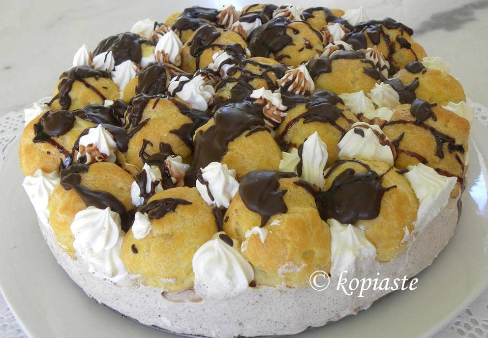 Profiterole chocolate cheesecake 3