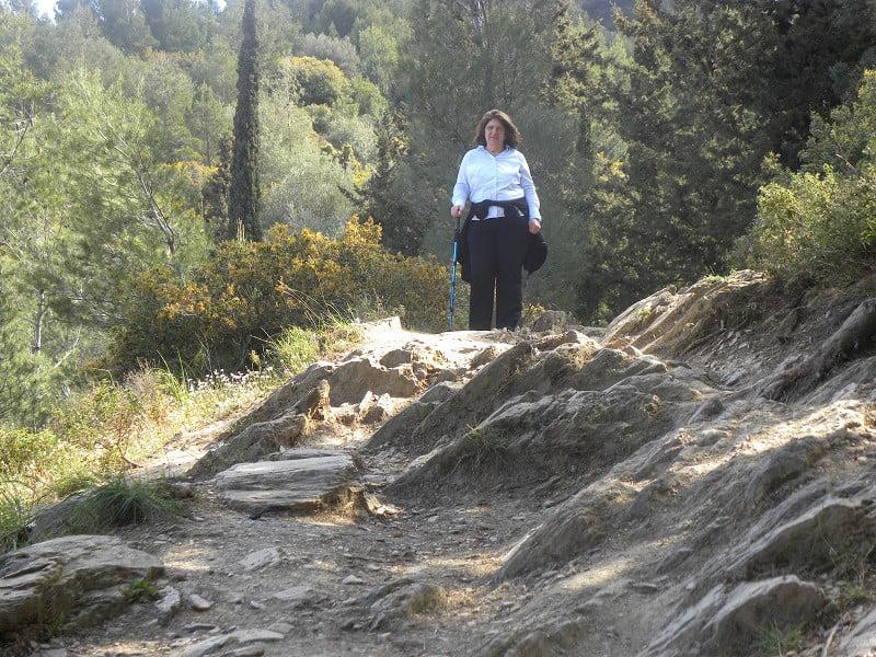 Trekking on mount Hymettus