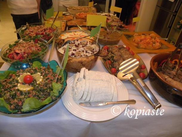 Table with food image