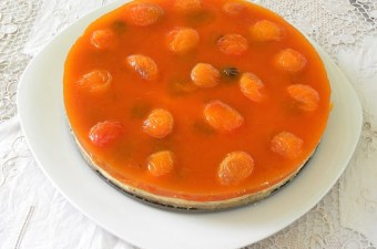 Apricot Jelly cheesecake round image