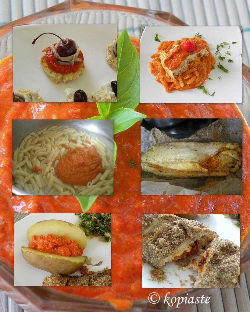 Collage Piperies Florinis (Red Pepper) Pesto