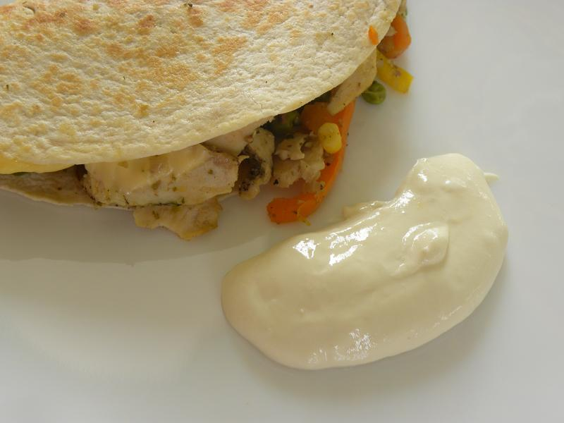 quesdadillas with leftover chicken