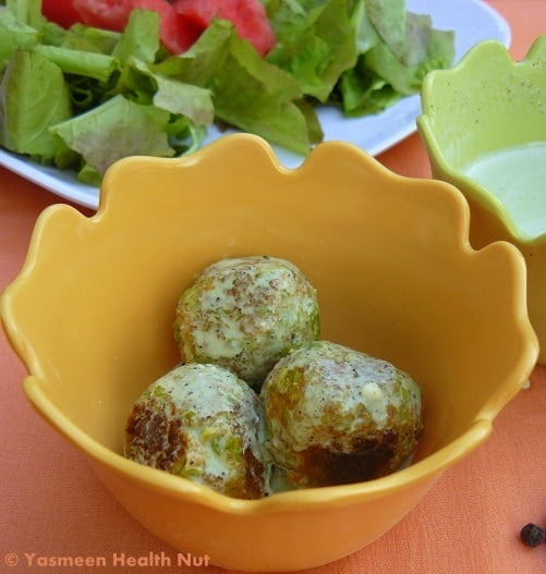 soy edamame meatballs by yasneen