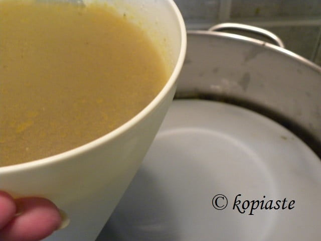 Turkey vegetable stock