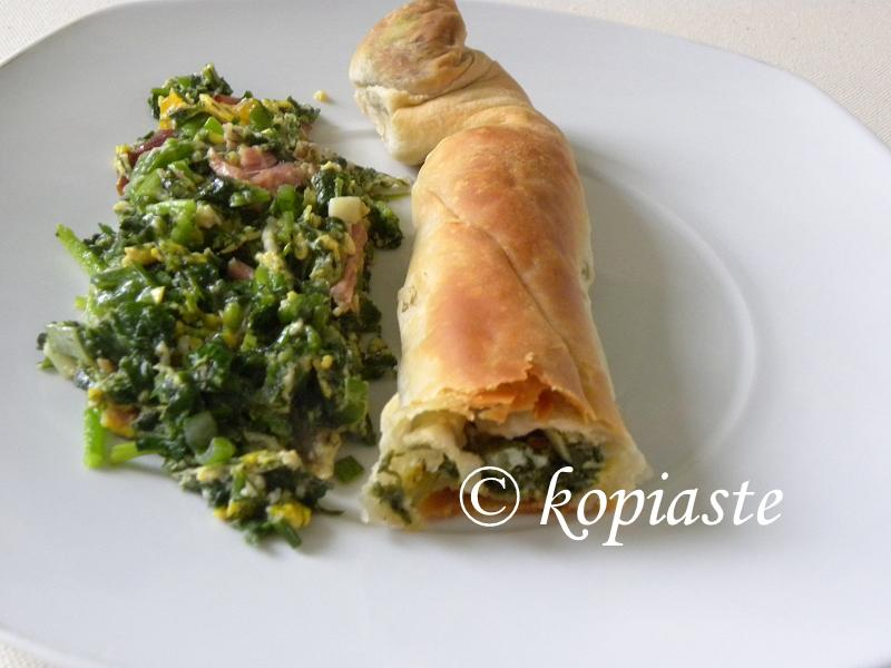 Spanakopita with kagianas