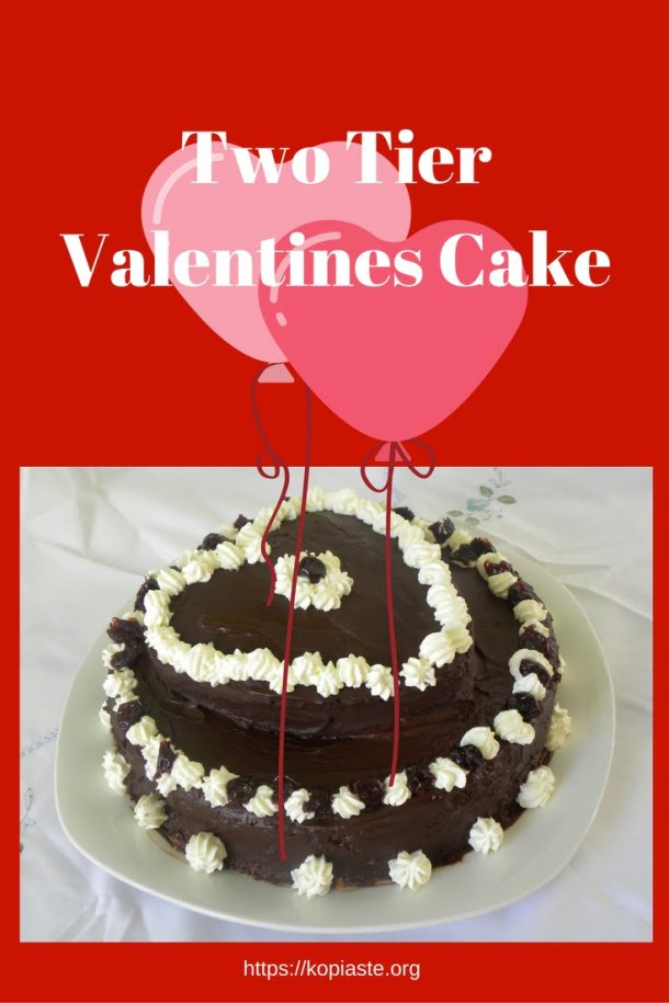 Two Tier Valentines cake image