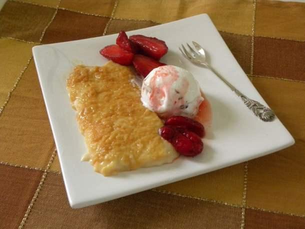 Ryzogalo - Caramelized Rice Pudding with ice cream image