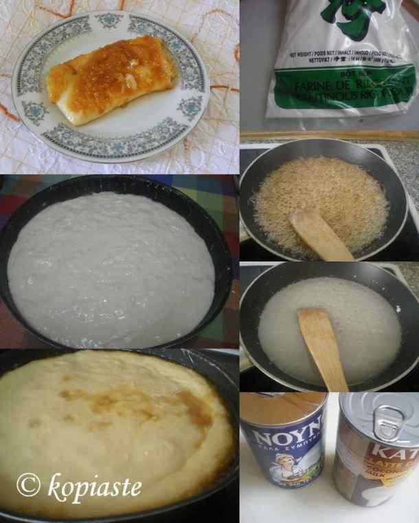Collage Caramelized Rice Pudding image