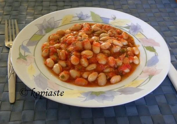 Stewed Borlotti beans - hantres image