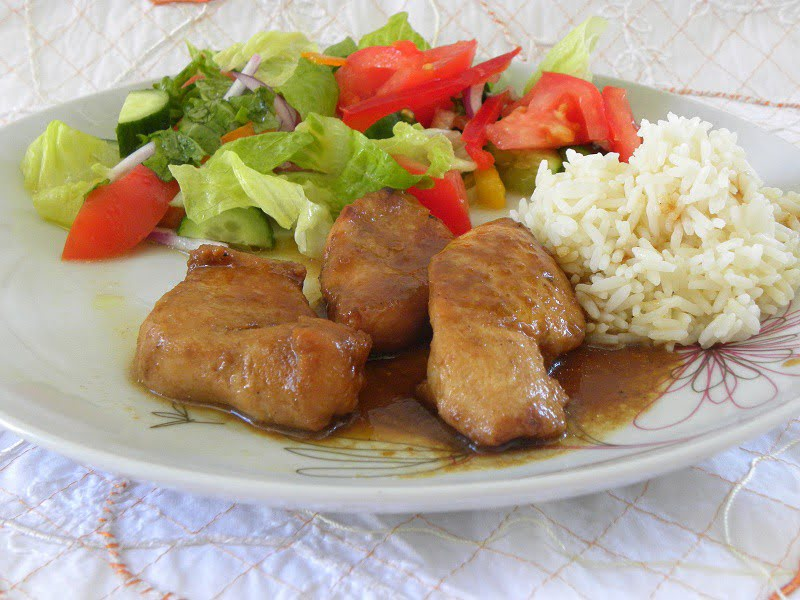 Teriyaki Chicken with orange