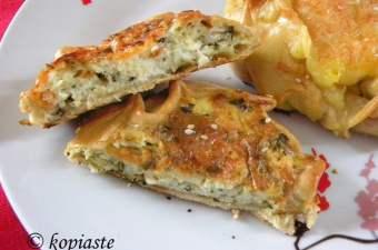 chicken galette kotopita cut image