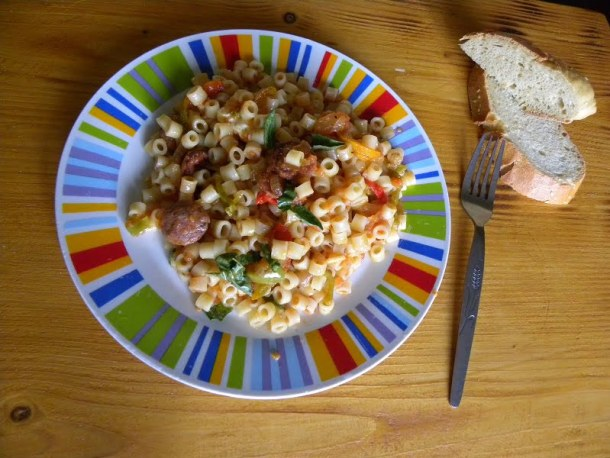 spetzofai with ditali pasta image