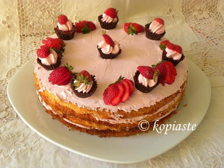 Chocolate Cupcakes & Strawberry Mousse Cake