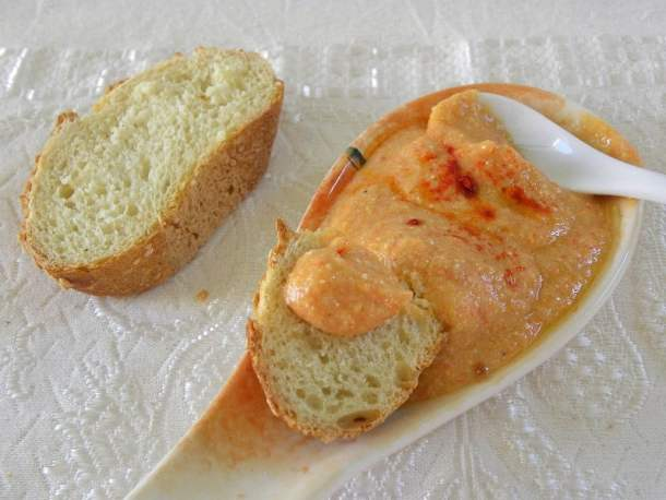 Fava and pumpkin dip with leftovers image
