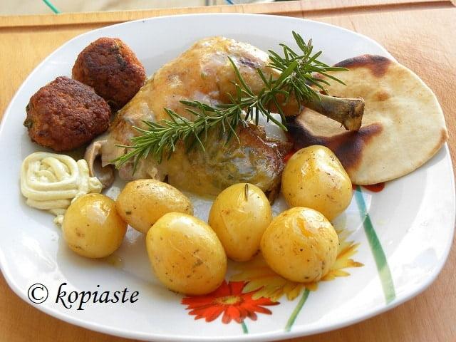 Chicken Rosemary and garlic