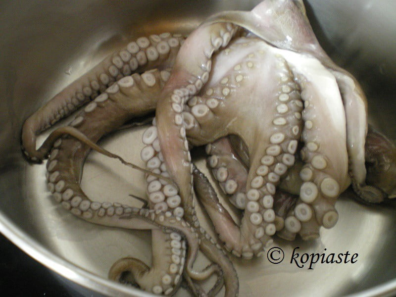 how to cook large octopus