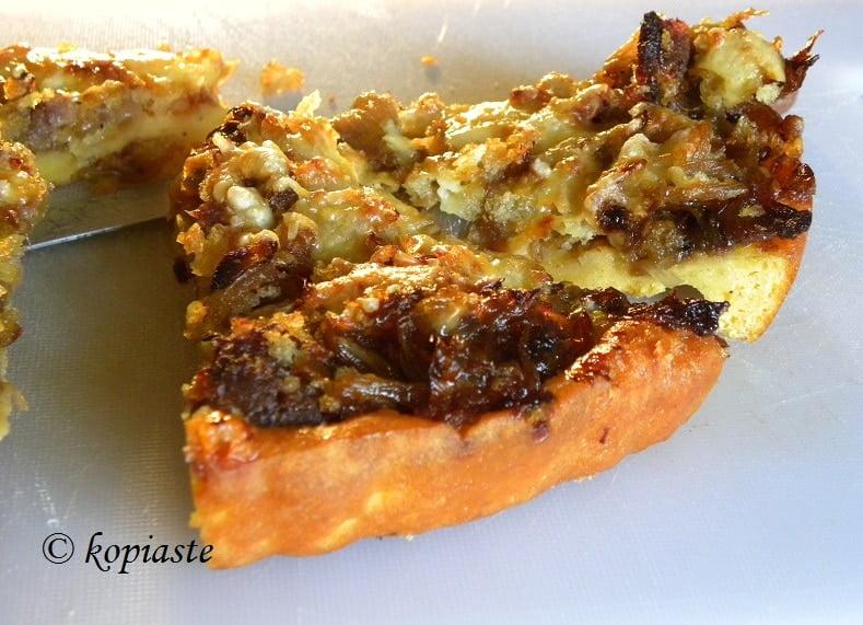 Onion and Sausage Tart2