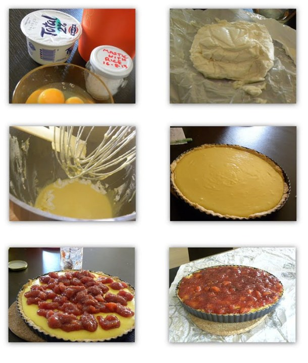 Collage Tart Cheese filling image