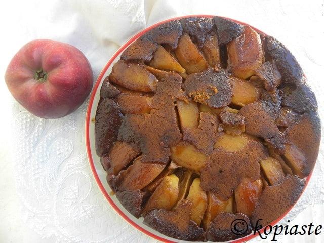 Greek Upside Down Milopita me Epsima (Apple Pie)