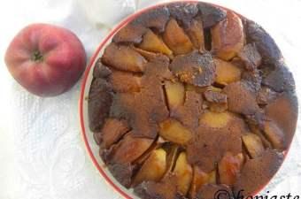 Milopita me Petimezi apple pie image