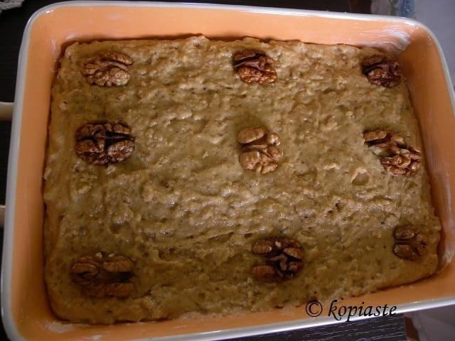 Authentic Greek Semolina Cake Orange Syrup