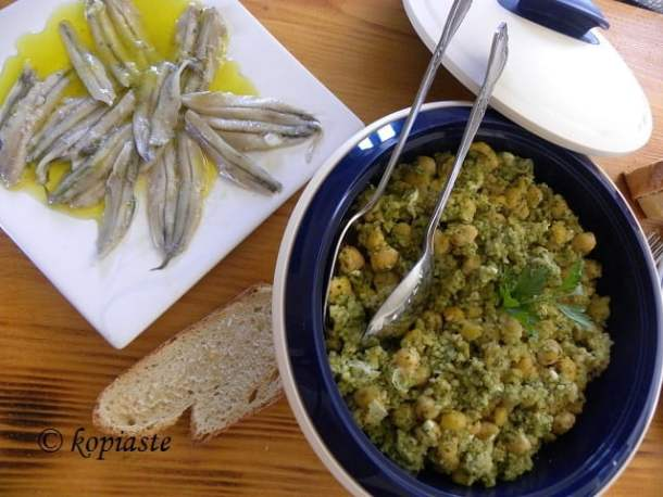 chickpeas with anchovies